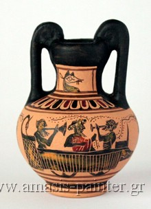 dionysos satyrs anthestiria choes ship