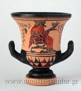 krater dionysos black figure